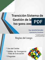 Charla Transicion Iso 9001 2008 a 2015 Junio 2018