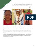 11-06-2019 Felicita gobernadora Pavlovich a deportistas sobresalientes-Opinión Sonora
