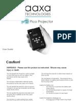 AAXA Pico Proyector P3 Manual