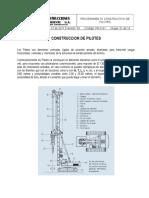 Procedimiento (Pr-c-01) Construccion de Pilotes