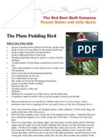 The Plum Pudding Bird