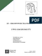 Manual Trans.zf.3 WG116-131-161-171 Tech Data-Maintenance 5872 363 002