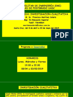Modulo de Investigacion Cualitativa
