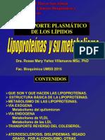Transporte de Lipidos Lipoproteinas Plasmaticas