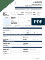 Application Form for Inbound Program Finfor Website