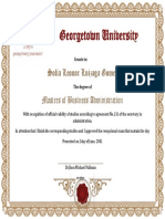 Degree Completion Certificate