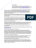 General Laboratory Safety Procedures
