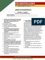 Diagnostico Español 3º Grado