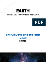 The Universe and the Solar System