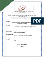 Planificacion de La Auditoria Administrativa Operativa