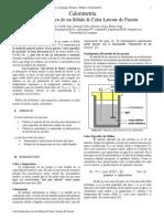 Calor Específico Lab Física 3