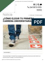 ¿Cómo Elegir Tu Primera Carrera Universitaria_, Universidad Siglo 21