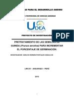 Pretratamiento de Las Semillas de Guinda (Prunus Serotina) Para Incrementar El Porcentaje de Germinación