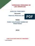 Foro Derecho Tributario 2019
