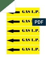 Etiquetas Gas Lp