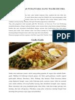 10 Salad Khas Nusantara Yang Wajib Dicoba