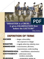 Disaster is a Cruel Teacher, It