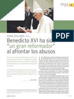 Articulo de Revista - Benedicto 16 Ha Sido Un Gran Reformador - Zollner