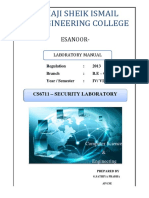 Security lab manual