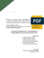 Informe Del Derecho a La Integridad y Violencia
