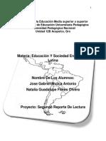 PROYECTO DE LA EDUCACIÓN EN AMERICA LATINA