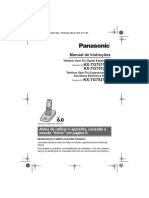 Manual Do Telefone Panasonic KX TG7511LBB
