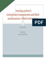 Lecture 6 Farming System Components - Allied Enterprises (1)