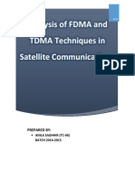 Analysis of FDMA and TDMA Multiple Access Techniques in Stellite Communication - Copy