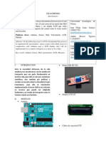 Proyecto Tacometro velocimetro con sensor electromagnetico