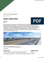 Salem Steel Plant