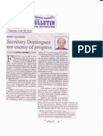 Manila Bulletin, June 18, 2019, Secretary Dominguez not enemy of progress.pdf