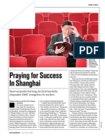Praying for Success in Shanghai