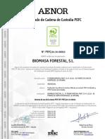 Certificado Pefc Biomasa Forestal 2017