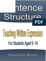 sentence structure for beginners english