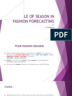 Role of Seasons in Fashion Forecasting