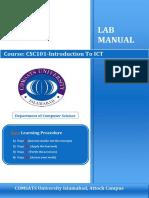 Lab Manual Csc101 Ict v2.0 (1)