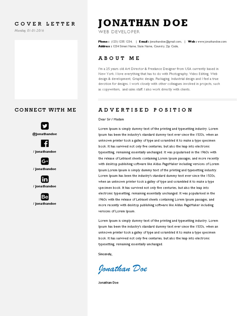 Cover Letter   Typography   Text