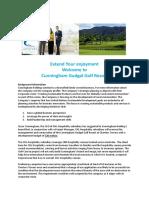 Case Study - CHL Golf 2019