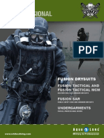 2013 Fusion M&P Drysuit Brochure FINAL