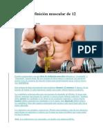 Dieta de Definición Muscular de 12 Semanas