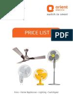 Fans Price List