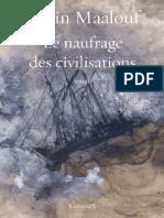 Maalouf Amin  Le naufrage des  civilisations -Grasset  2019 .pdf