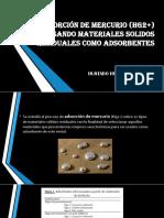 BIOSORCIÓN DE MERCURIO (HG2+) USANDO MATERIALES