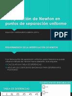 3.2. Interpolación de Newton en Puntos de Separación Uniforme