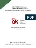 Format Laporan Peserta PKL OJK