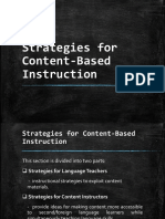 English 22 Strategies for Content Based Instruction