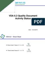 VDA QA Activity Status