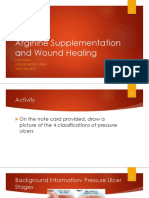 cole kelby arginine supplementation and wound healing