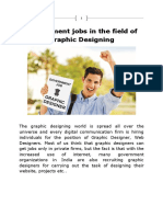 Government Jobs in the Field of Graphic Designing