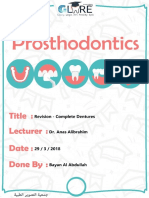 Revision 1 Complete Dentures